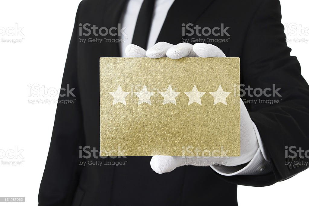 Top class service royalty-free stock photo