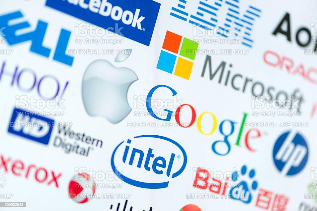 Top computer corporation companies stock photo