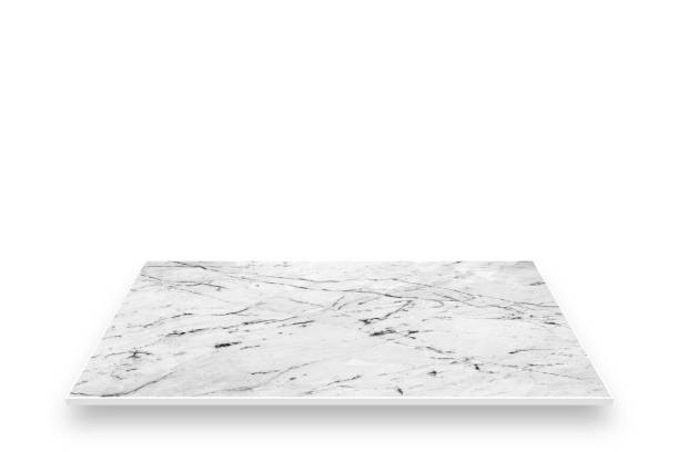 Top counter marble perspective isolated on white screen stock photo