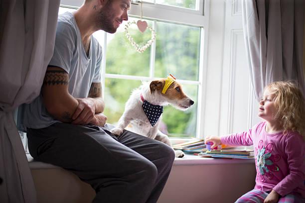 top hund - lausbub tattoo stock-fotos und bilder