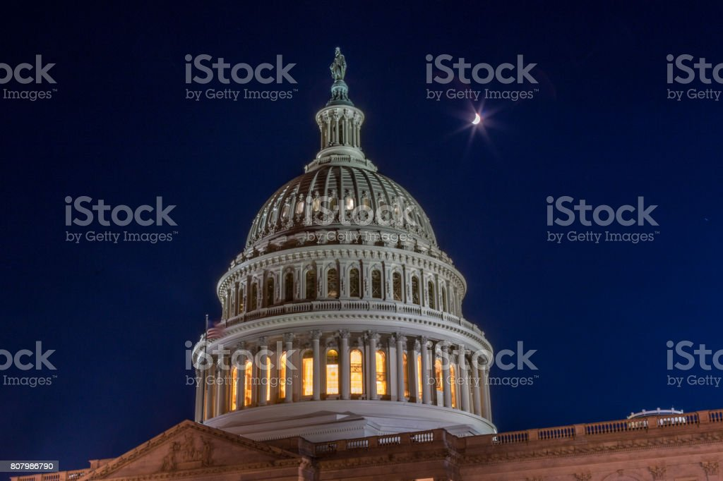 Top Dome of the DC Capitol Building stock photo