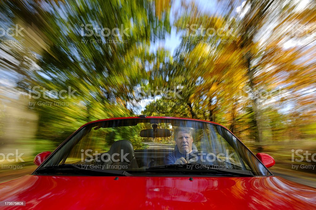 Top down motoring on a fall day. stock photo