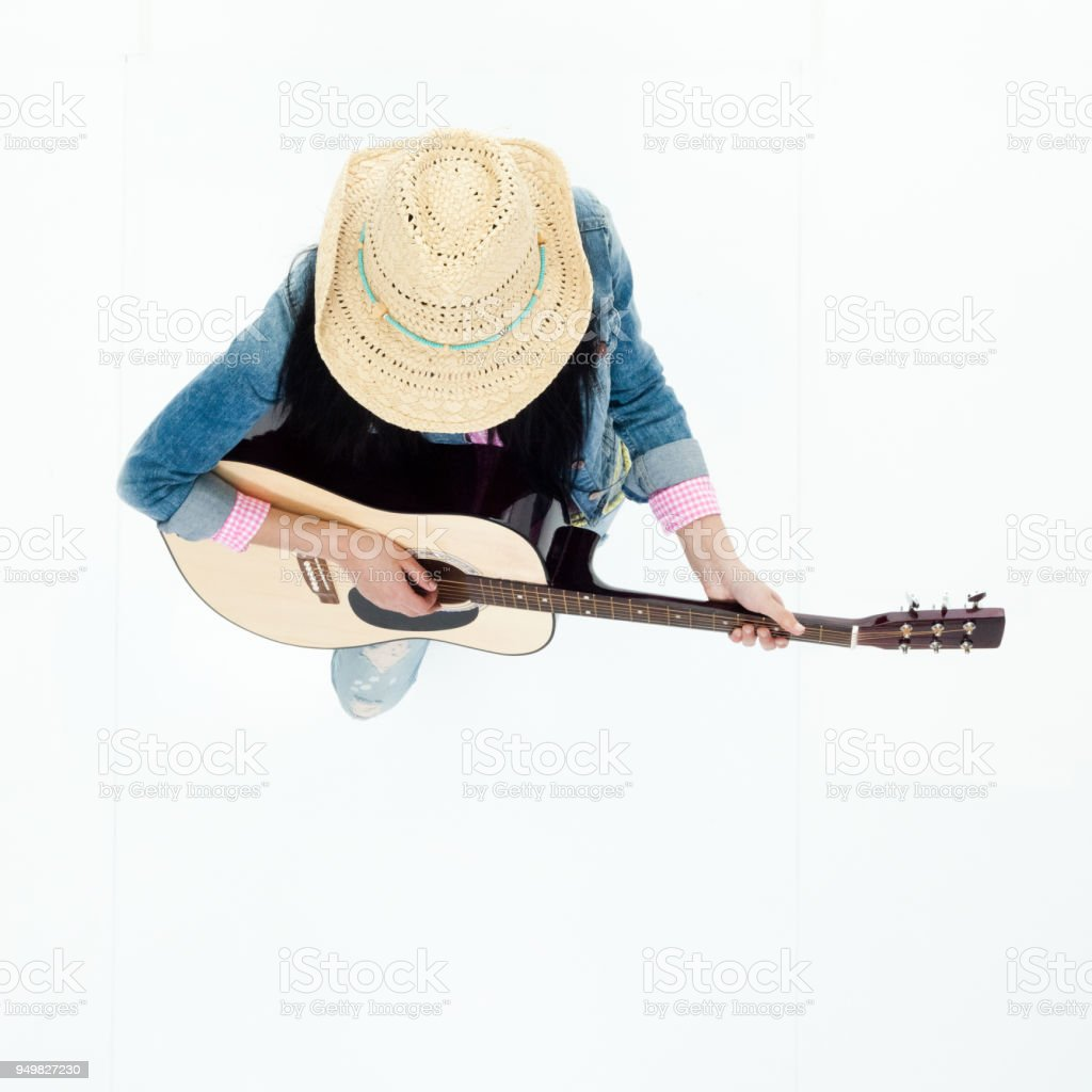 3ad30f99bee19 Top Down View Of Country Music Musician Stock Photo   More Pictures ...