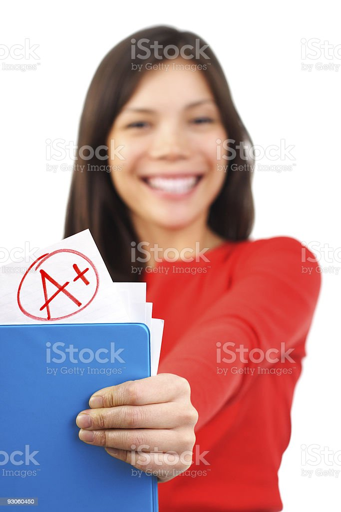 top grade / a plus student royalty-free stock photo
