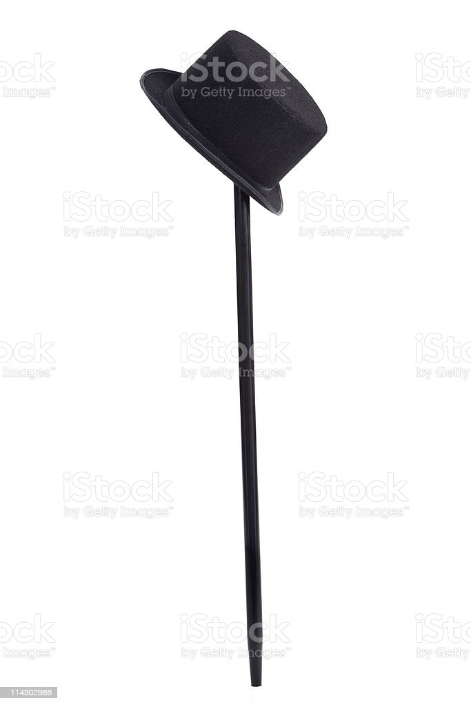 Top Hat and Cane stock photo