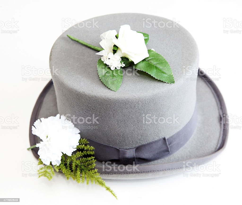 top hat and corsage royalty-free stock photo