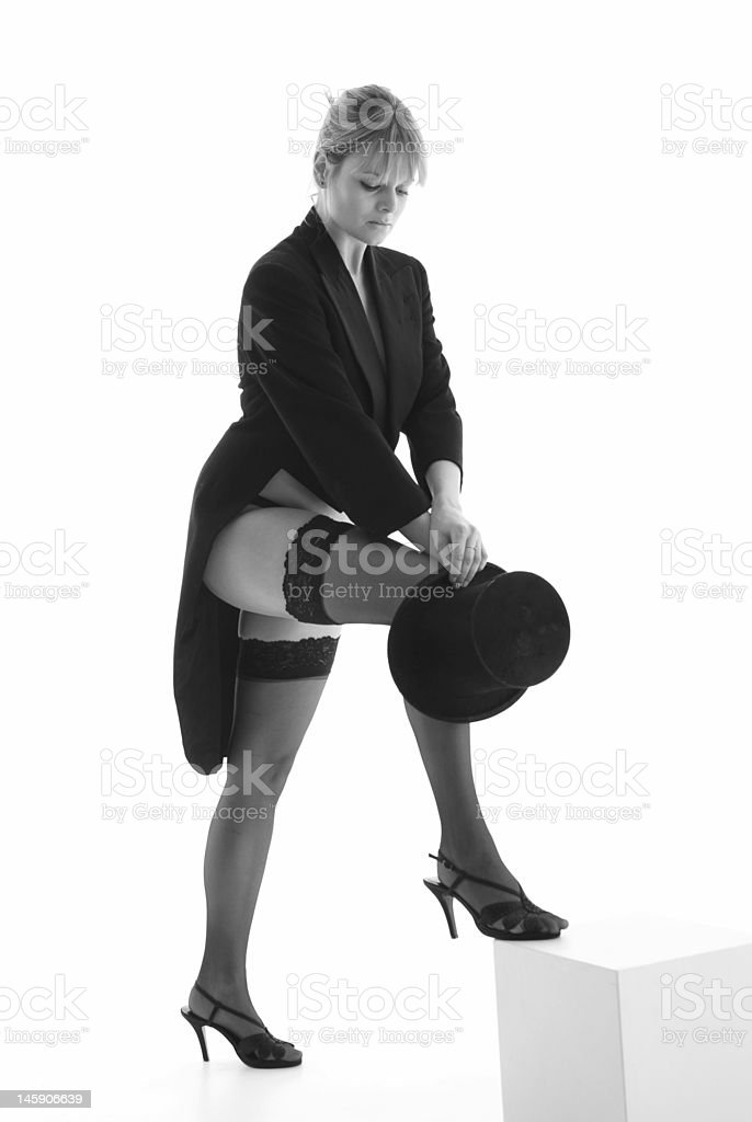 Top hat and Tails. stock photo