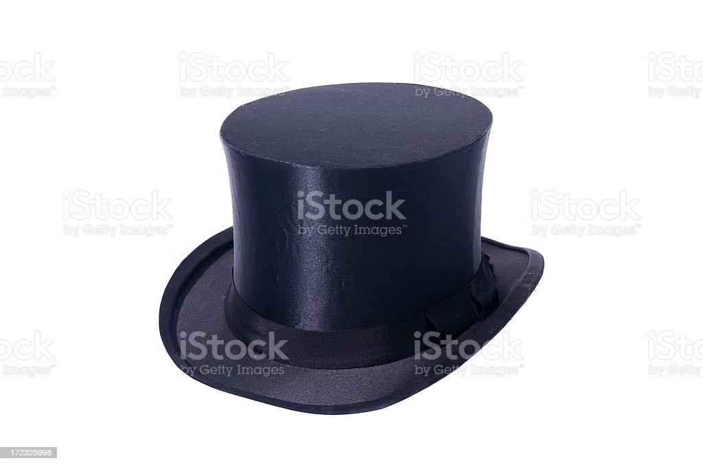 Top hat isolated royalty-free stock photo