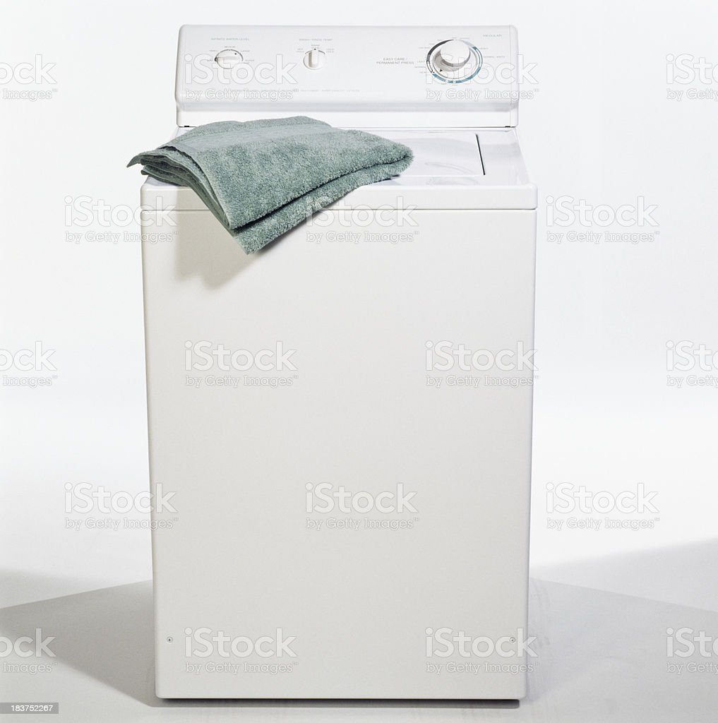 Top load washing machine stock photo