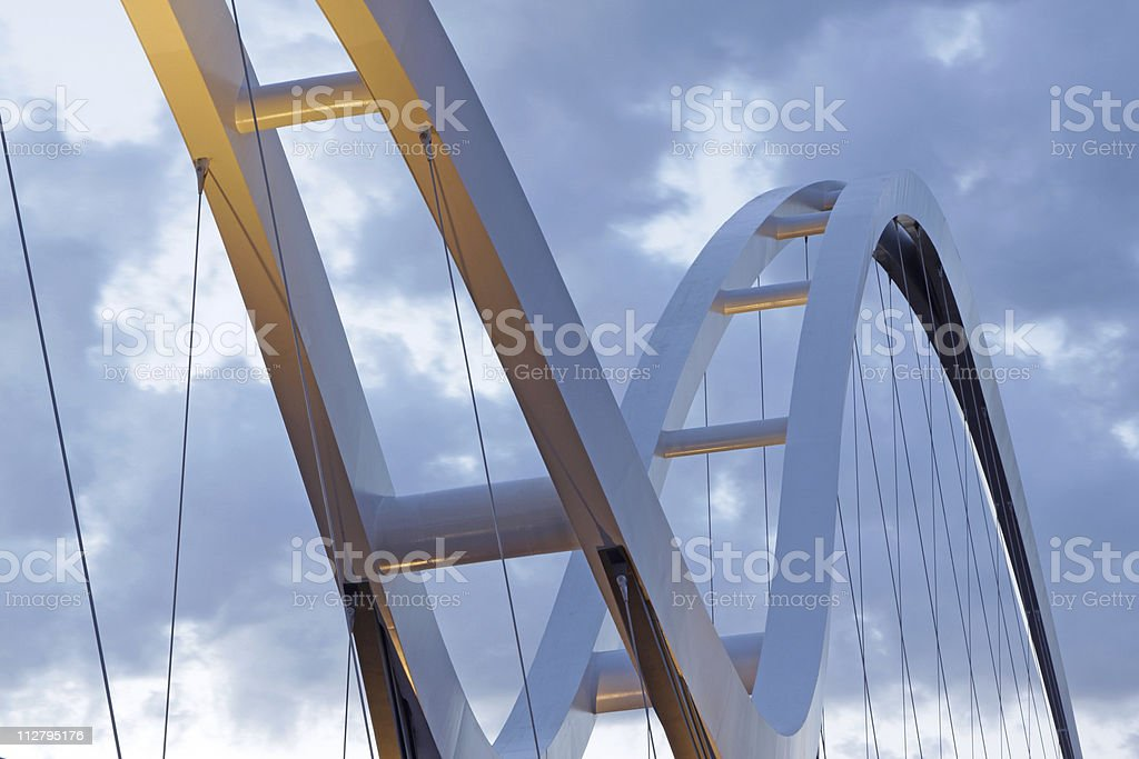top of a new bridge royalty-free stock photo