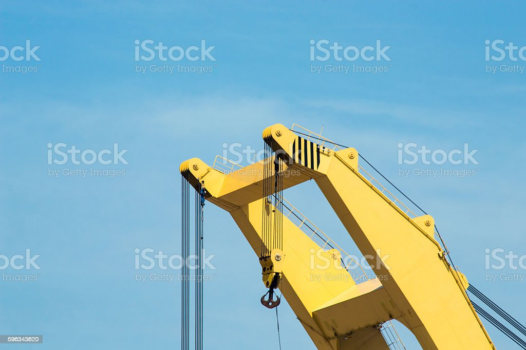 Top of a Port Crane Lizenzfreies stock-foto