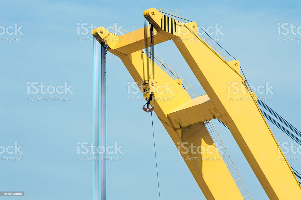 Top of a Port Crane royalty-free stock photo