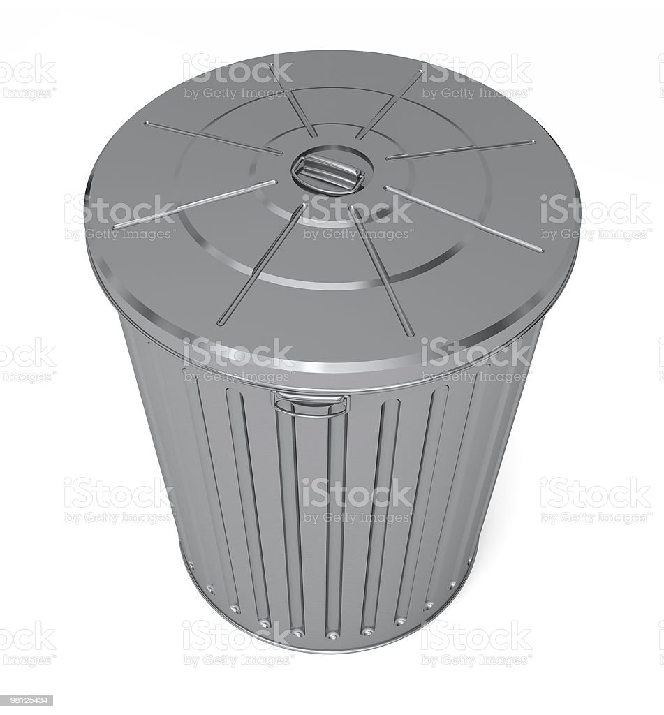 Top of a trash can royalty-free stock photo
