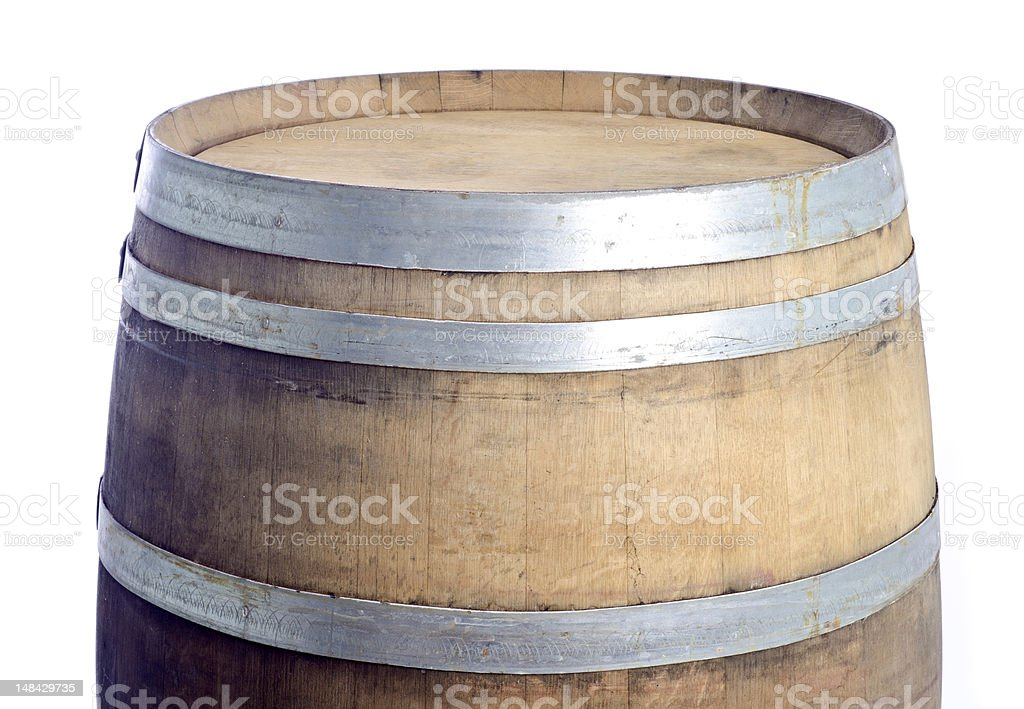 Top Of A Used Oak Wine Barrel Stock Photo More Pictures Of Alcohol