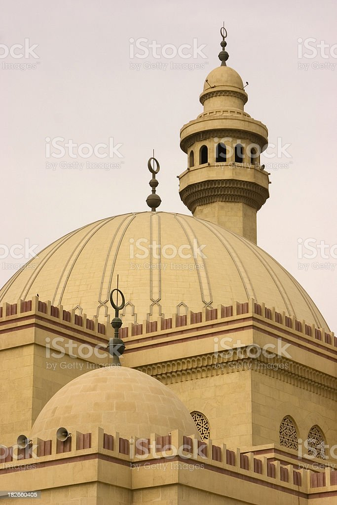 Top of Al Fateh mosque Bahrain royalty-free stock photo