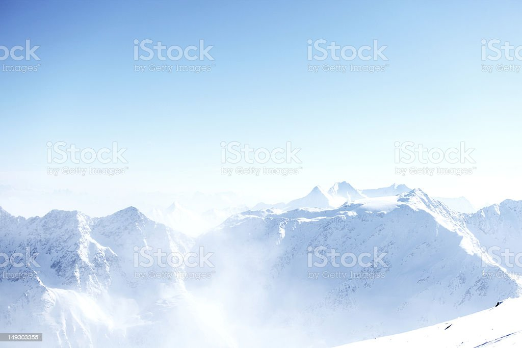 top of alps royalty-free stock photo