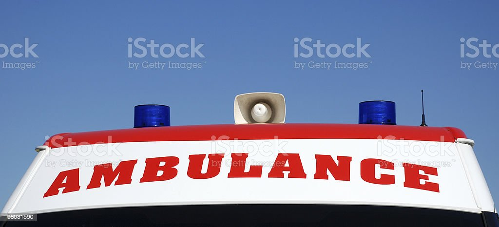 top of an ambulance royalty-free stock photo