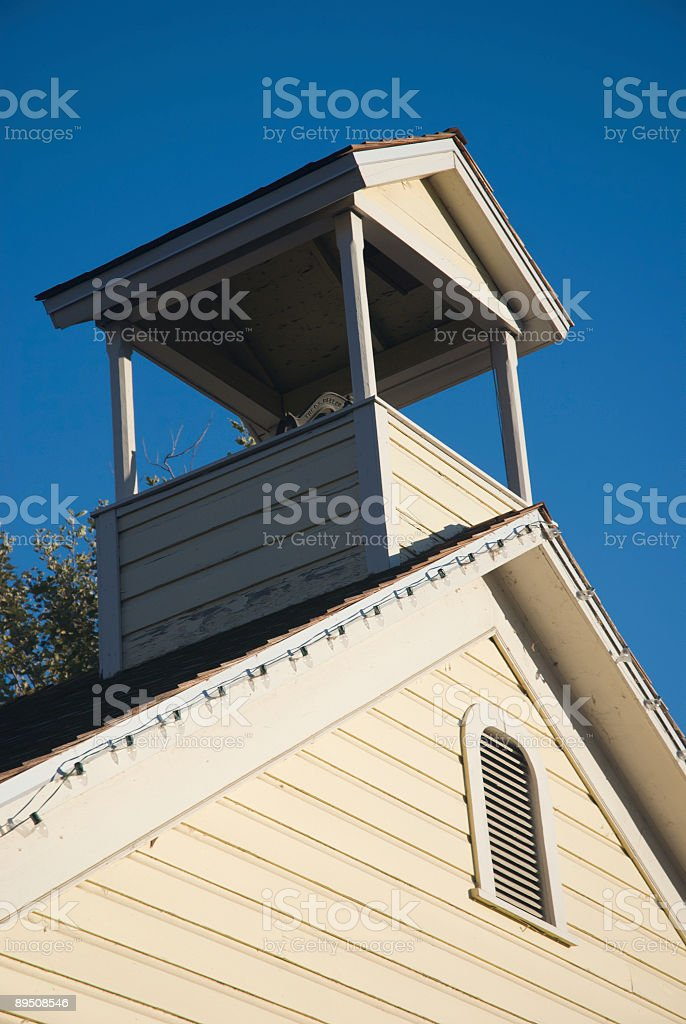 Top of an Old-fashioned  Country Schoolhouse royalty-free stock photo