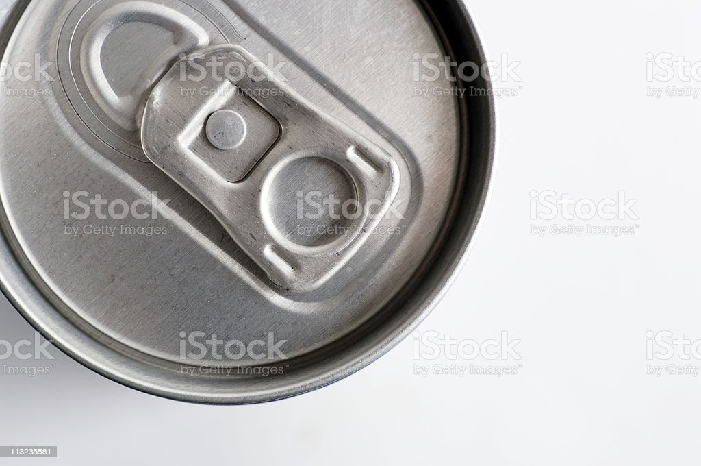 Top of chilled soda can Ring pull royalty-free stock photo