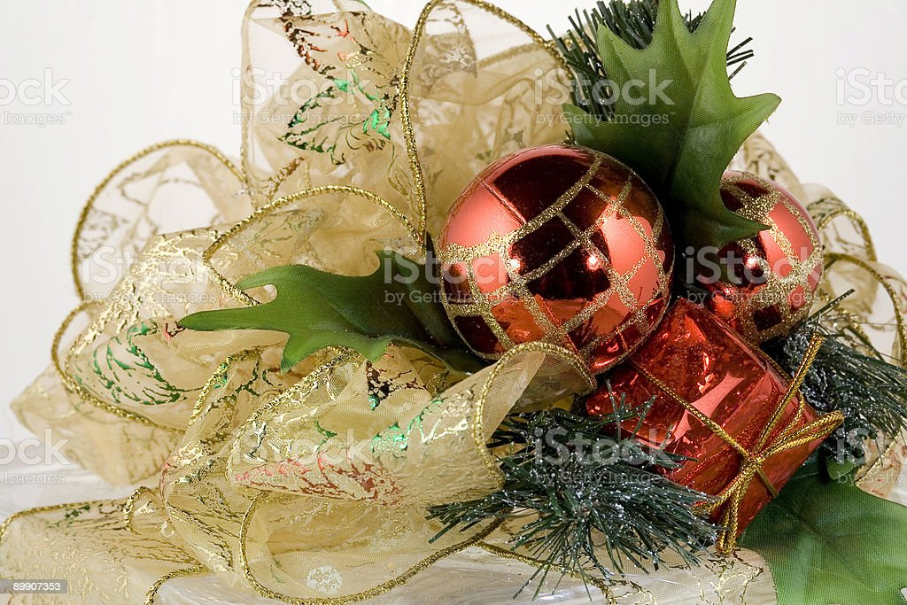 top of christmas present royalty-free stock photo