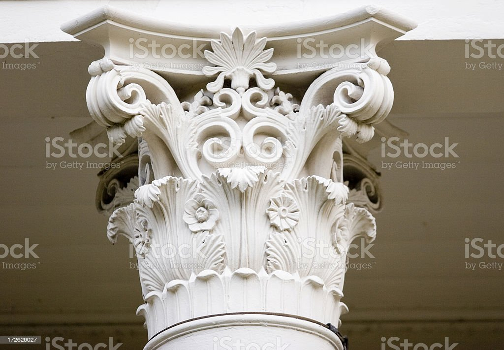 Top of Column - Corinthian Style royalty-free stock photo