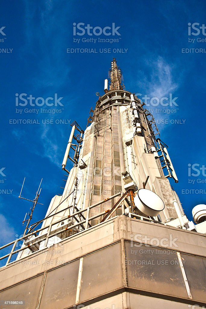 Top of Empire State Building royalty-free stock photo