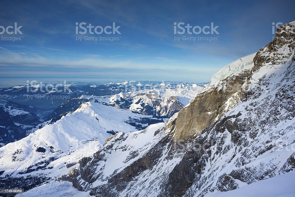 Top of Europe, view from Jungfraujoch royalty-free stock photo