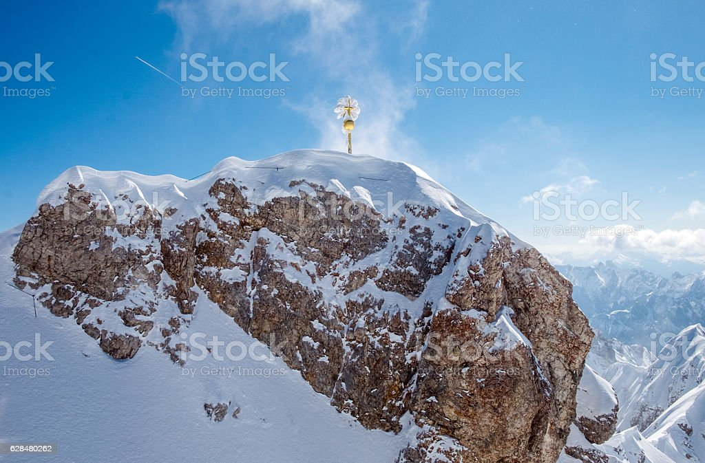 Top of Germany, Zugspitze stock photo