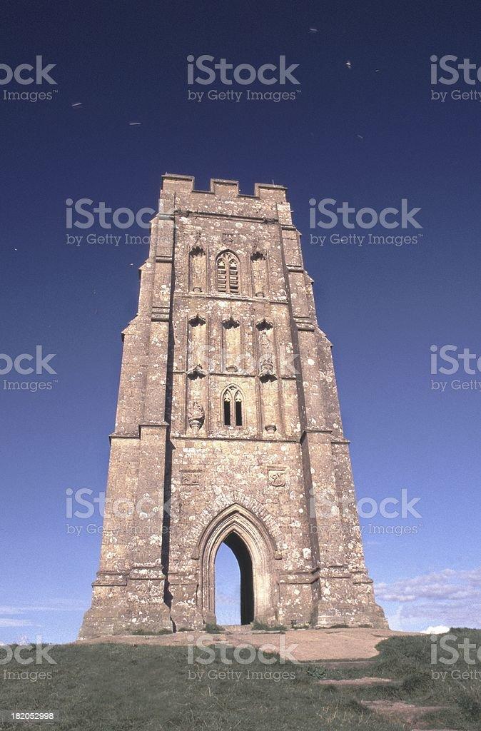 Top of Glastonbury Tor stock photo