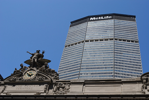 Top of Grand Central Terminal and the Metlife Building