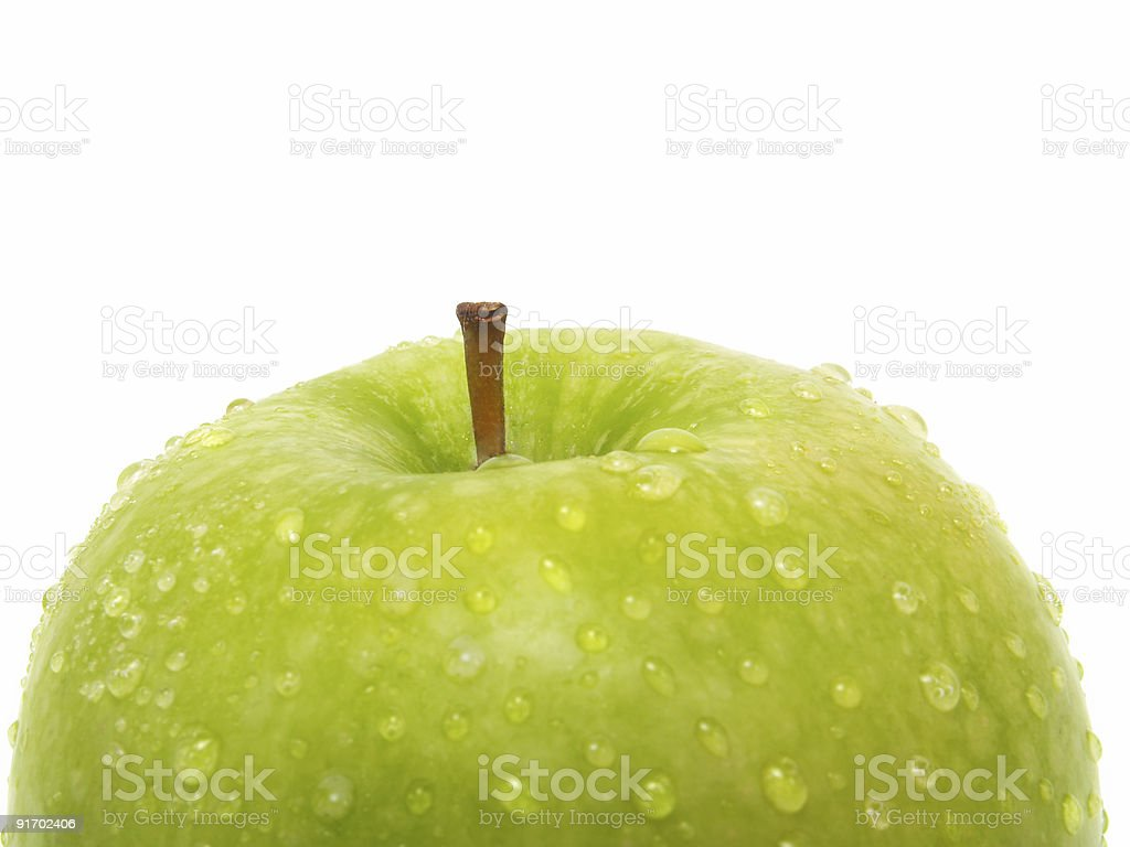 Top of green apple royalty-free stock photo