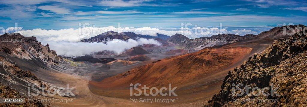 Top of Haleakala Crater stock photo