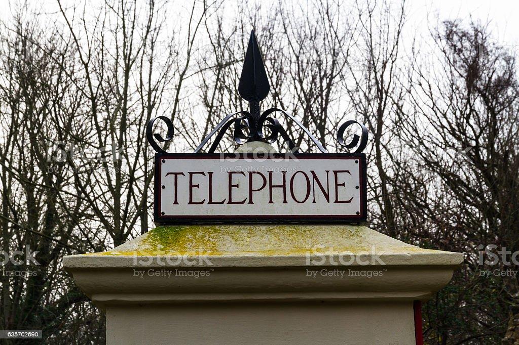 Top of K1 telephone box, UK royalty-free stock photo