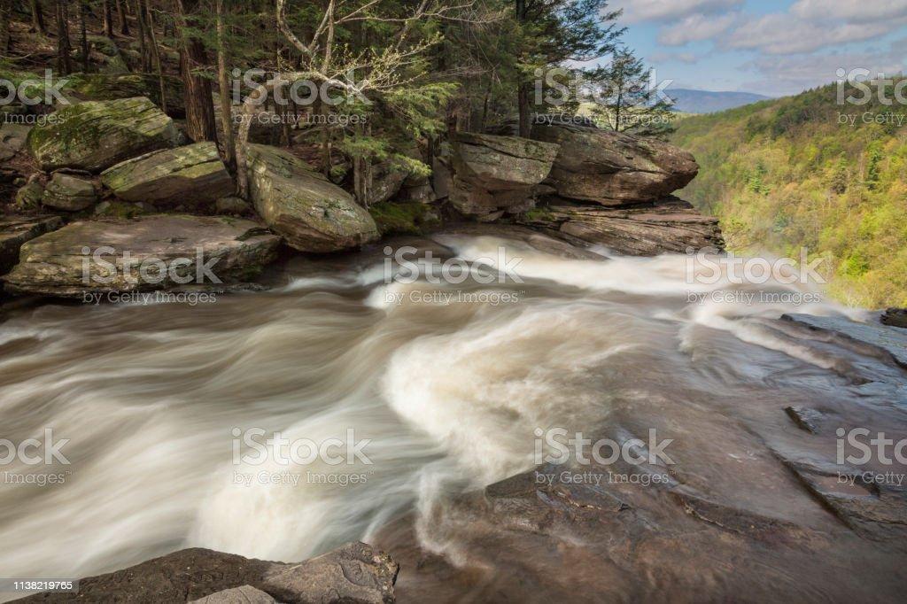 Top Of Kaaterskill Falls, Catskills stock photo