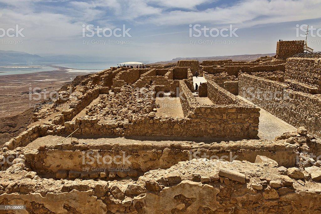 Top of Masada in Israel stock photo