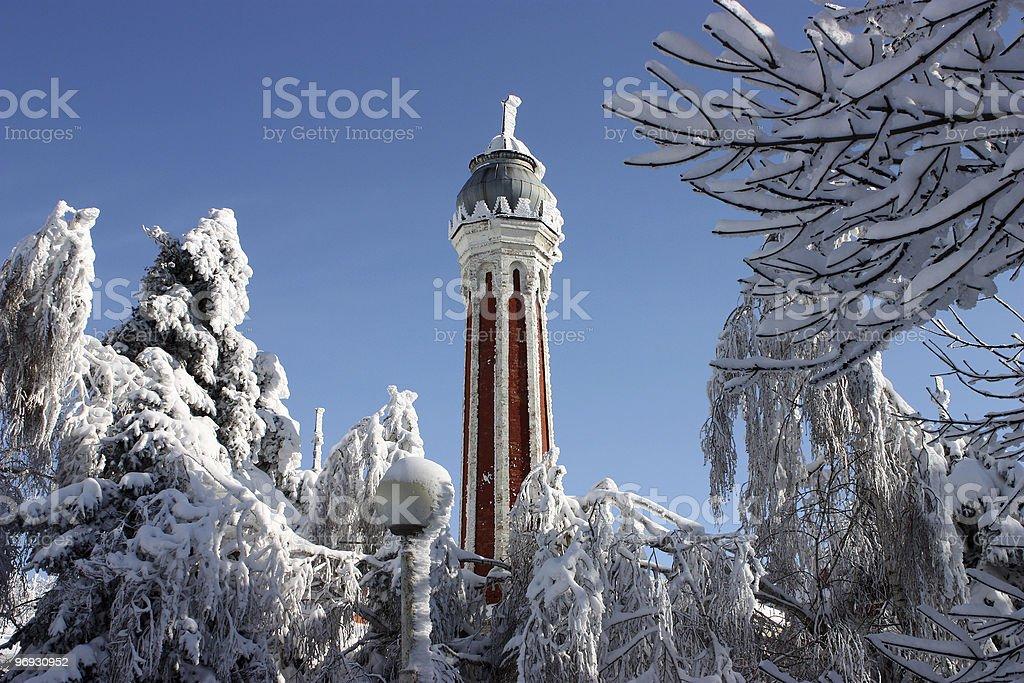 Top of Minaret in Zheleznovodsk. royalty-free stock photo