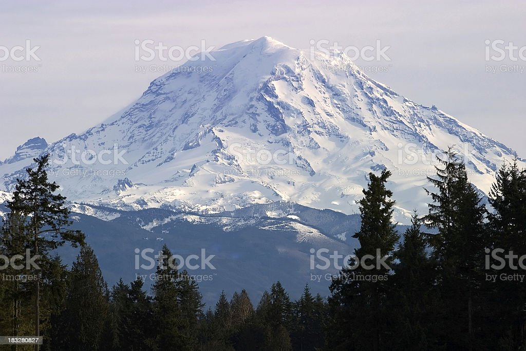 Top of Moint Rainier stock photo