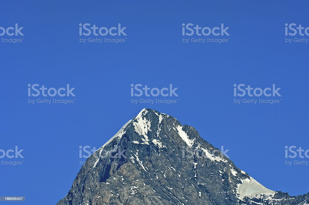 Top of Mount Eiger stock photo