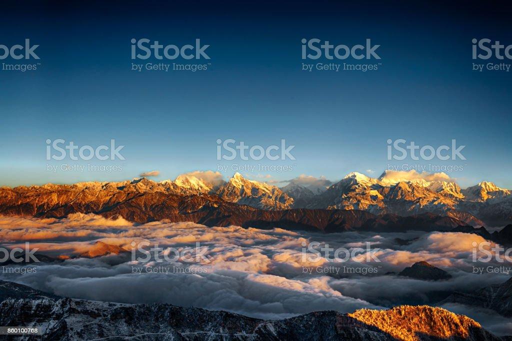 top of mountain stock photo
