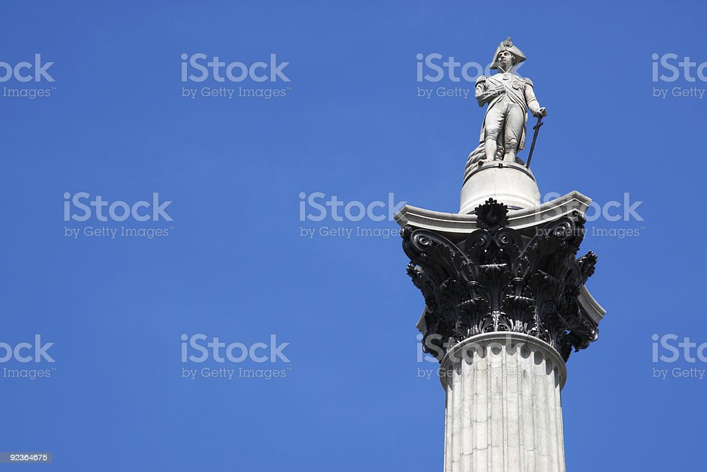 top of nelsons column royalty-free stock photo