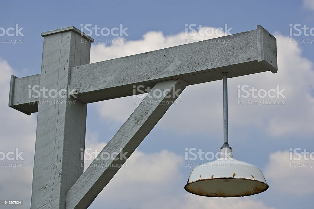 Top of old style street light royalty-free stock photo