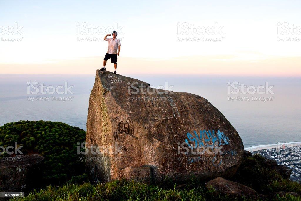 Top of Pedra da Gavea stock photo