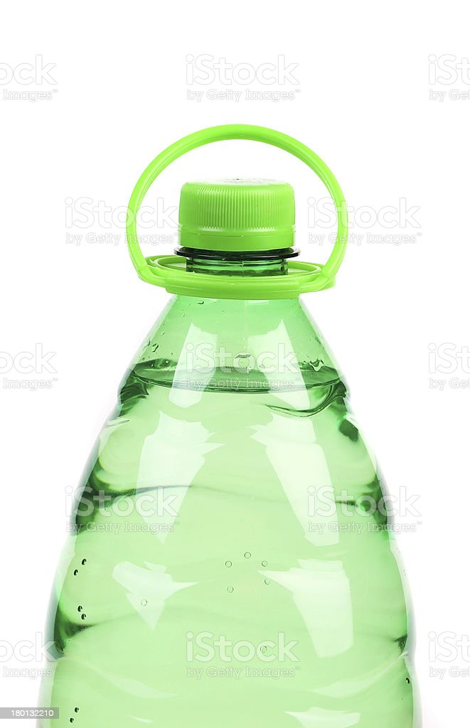 Top of plastic bottle with water without label. royalty-free stock photo