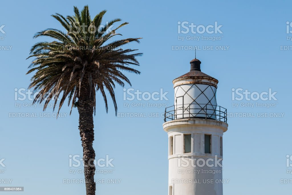 Top of Point Vicente Lighthouse in Rancho Palos Verdes, California stock photo