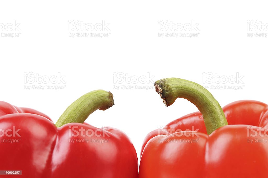 Top of red pepper. royalty-free stock photo