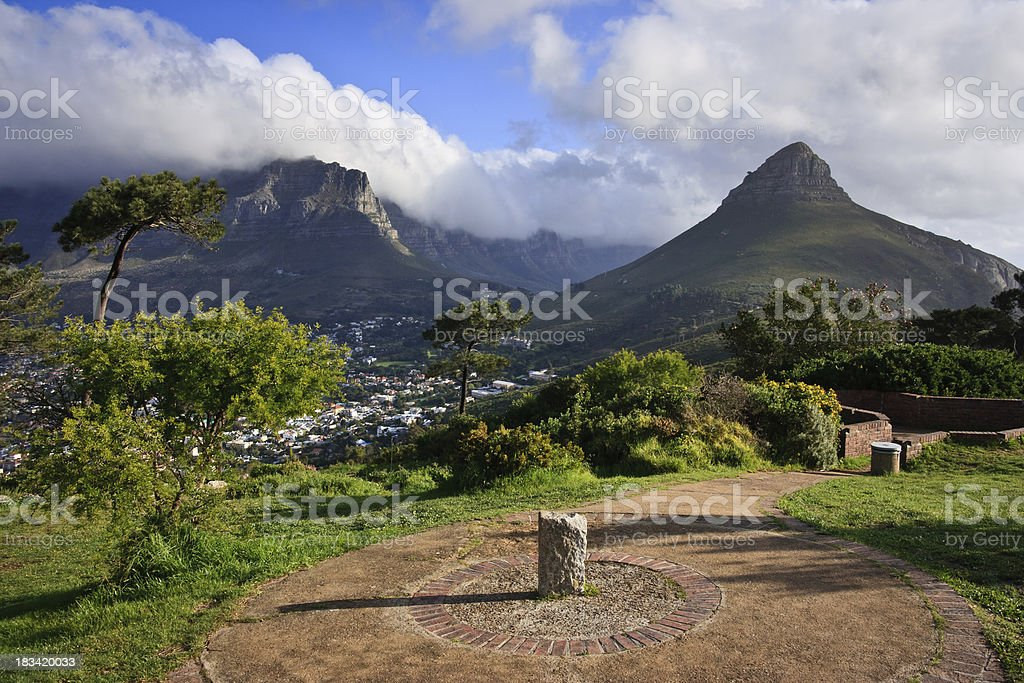 Top of Signal Hill in Cape Town, South Africa. stock photo