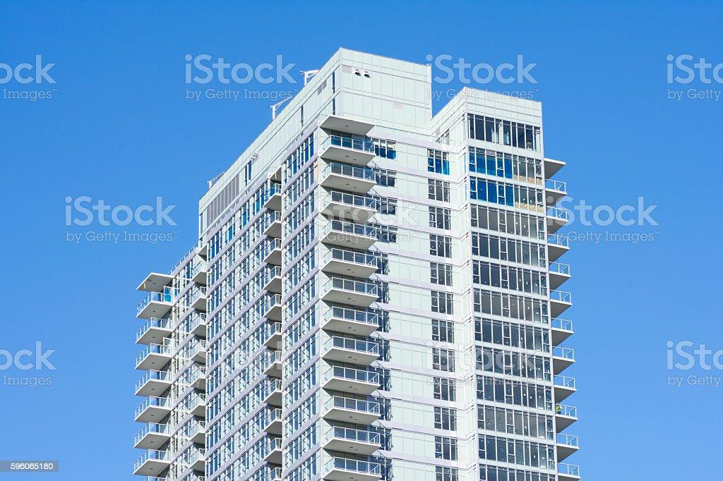 Top of tall condominium high rise royalty-free stock photo