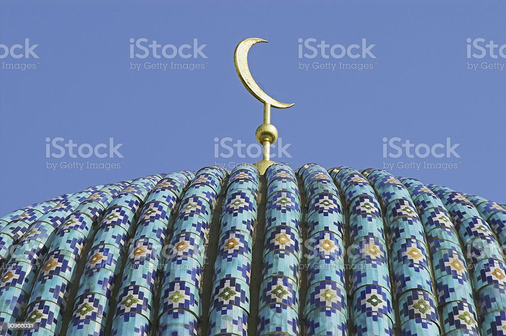 top of the ancient mosque royalty-free stock photo