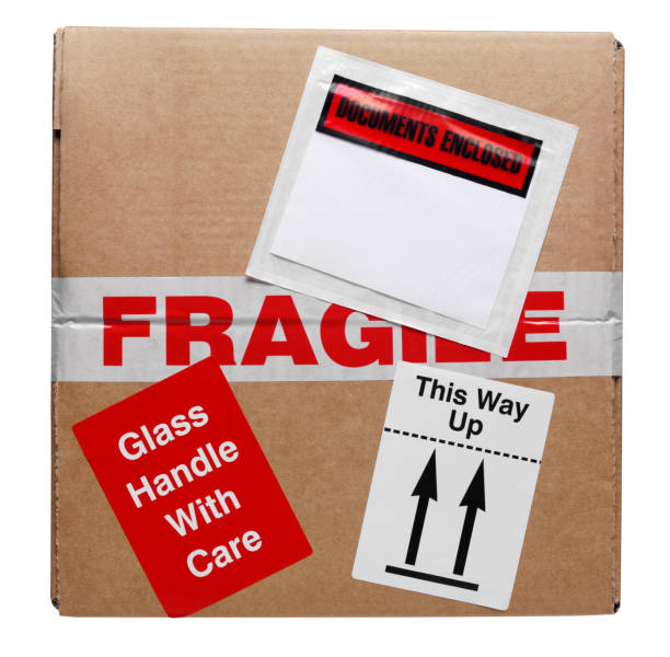 top of the box - fragile stock photos and pictures