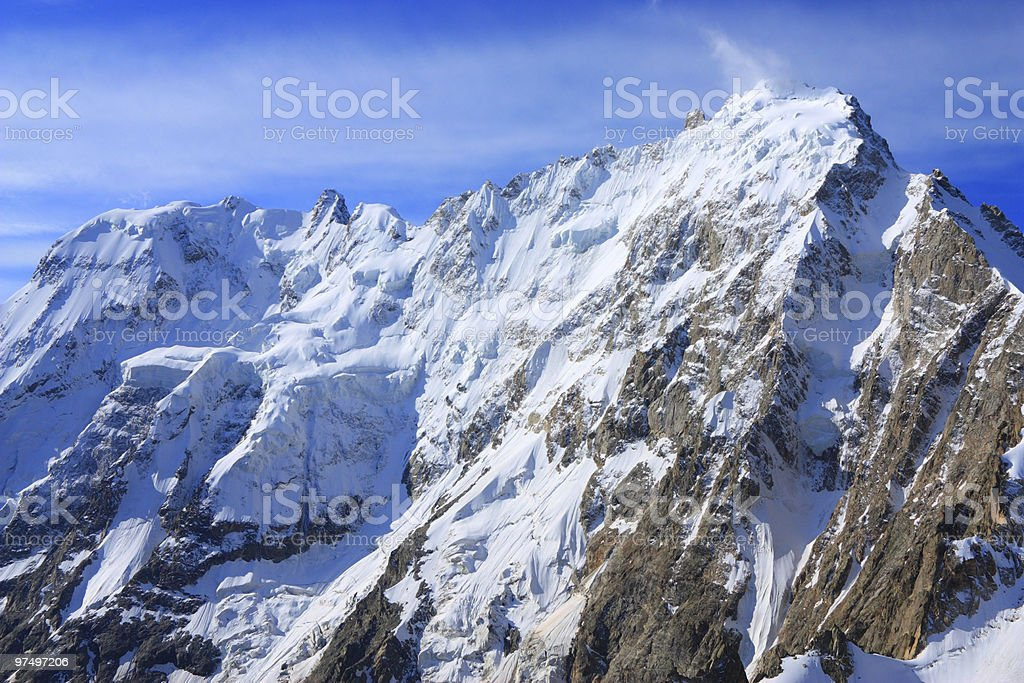 top of the mount Dykh-tau royalty-free stock photo